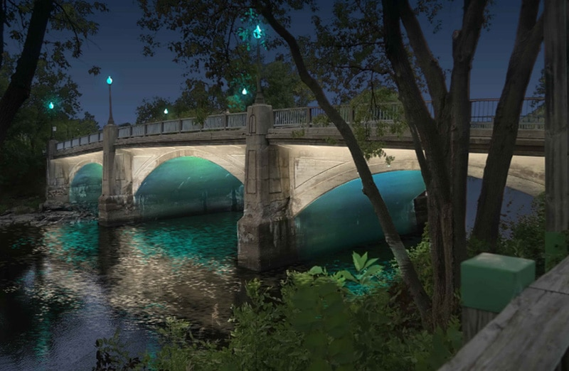 Plan lumiere Pont